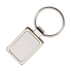 Fém kulcsartó téglalap alakú